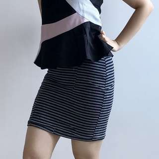 Cotton On rok span motif garis