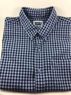Levis Checked Blue Green (short sleeve)