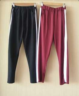 Zara pants list ( celana garis murah )