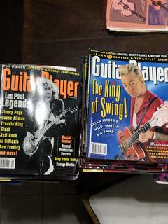Collection of guitar magazine