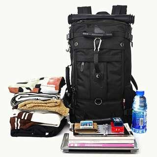 50L black backpack