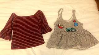 Lot of 2 tops