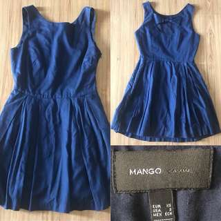 Mango Casual Navy Blue Dress