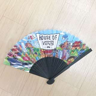 VANS限量紀念品2015 紙扇 house of vans vans of the wall 滑板衝浪