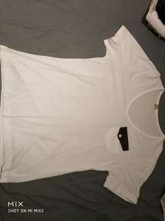 White fake pocket Tshirt