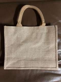 麻布手工A4橫身袋 Linen A4-sized Bag