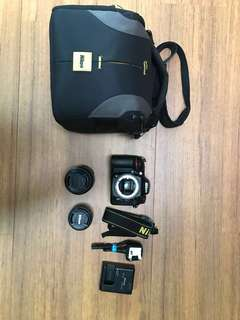Nikon D7100 with lenses and items