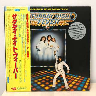 Saturday Night Fever OST (Japan First Press) 1977 Vinyl Record - 2 LP