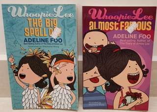 Whoopie Lee Story Books by Adeline Foo (selling both together)