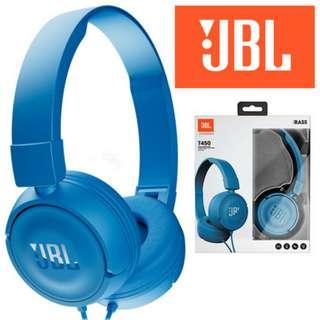 JBL T450 On-Ear Headphones (Blue)