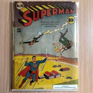 DC COMICS Superman #10-1st bald Lex Luthor|Ad for Worlds Best Comics #1 (Serious Buyers Only)