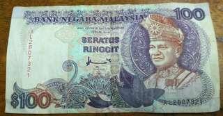 Duit Lama RM100