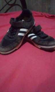 Black semi-addidas shoes