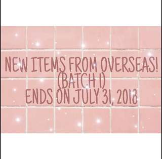 NEW ITEMS FROM OVERSEAS! BY BATCH!