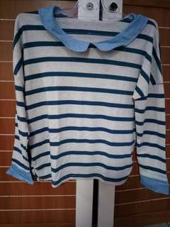 Blouse / Top / Stripe Sweatshirt