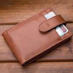 Men PU Business Multifunctional Short Buckle Wallet
