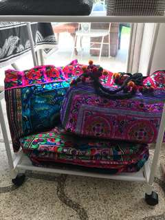 Embroidered HMONG beach bags. PERFECT FOR SUMMER!!