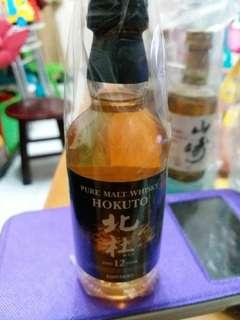 已停止生產,絕版三得利北杜威士忌酒辦50ml一支。