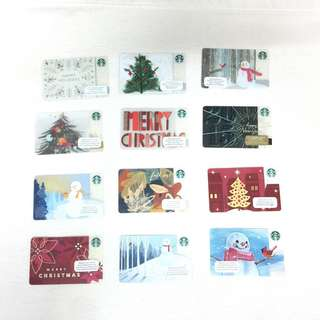 Starbucks card for christmas and new year collection