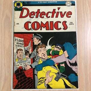 DC COMICS Detective Comics #107-Dick Sprang Cover (Serious Buyers Only)