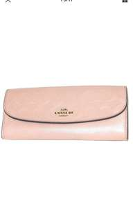 Coach  F 26460 Embossed Signature Leather Slim Wallet
