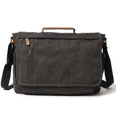 Men High-capacity Vintage Canvas Handbag Computer Laptop Bag