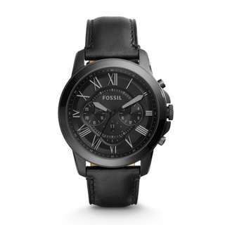 [Clearance] Fossil FS5132 Men's Stainless Steel Watch with Black Band