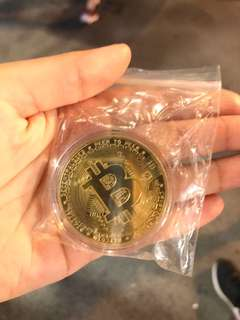 24k gold plated Bitcoin