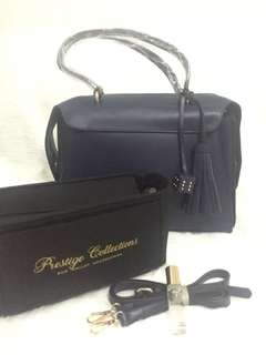 Complete Package: Navy Blue Quinn Handbag (see details for freebies)
