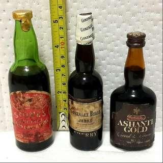 3 Rare Mini Liquor