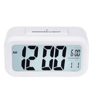 Digital Snooze Alarm Clock with LED Backlight Control