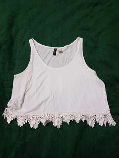 H&M Crop Top with Lace