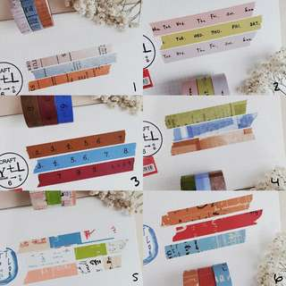 Classiky Mix - RM10 for 3 sets [Washi tapes by metre]