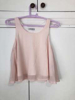 Sparkly Light Pink Crop Top