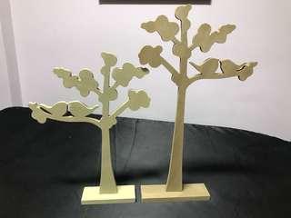 Love bird trees wooden die cut decorative trees