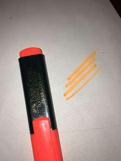 橙色螢光筆