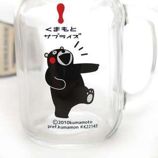 🚚 KUMAMON 酷ma萌 熊本熊 玻璃杯罐 600ml(梅森瓶~玻璃杯梅森瓶瓶蓋玻璃罐沙拉星空瓶牛奶瓶)
