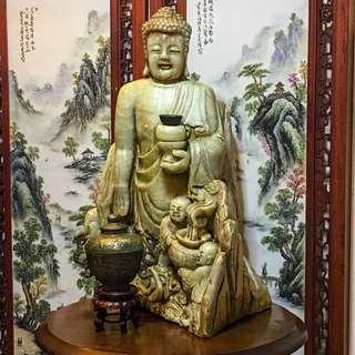 Antique Jade Buddha Figurines