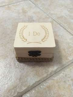 Wooden ring box for wedding