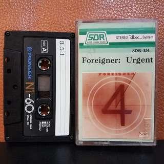 Cassette》Foreigner - Urgent