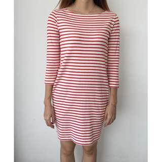 UNIQLO Stripped Cotton Dress Preloved Woman Clothes