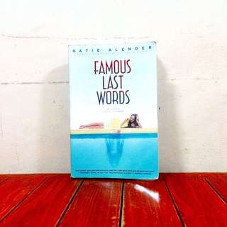 Famous Last Words (scholastic)