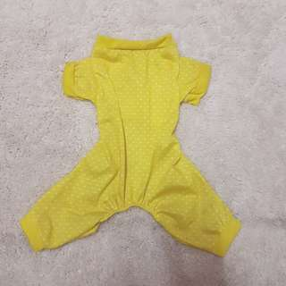 Yellow Dog Pajama Onesie