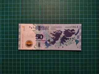 ARGENTINA 50 Pesos UNC