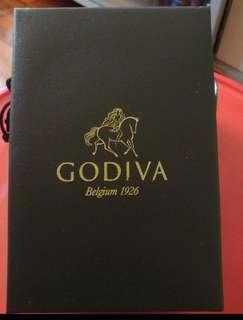 全新 Godiva 朱古力 水晶盒