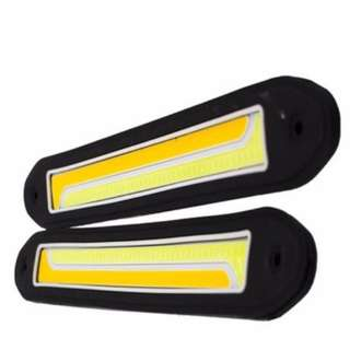 1Pair COB DRL Fog Light Turn Signal Light white/yellow(2C-4)
