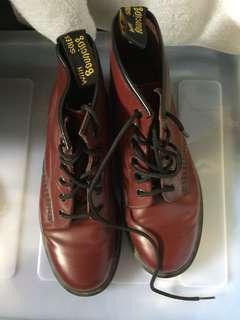 DocMartens Cherry Red 12 eye boots