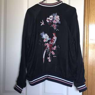 Glassons embroidered bomber jacket