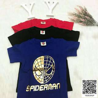 Kids Spiderman Gold Logo T