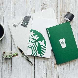 🇹🇼台灣[Starbucks 星巴克]20周年星情隨行文具組 (筆記本*2, 紙膠帶*2)🇹🇼